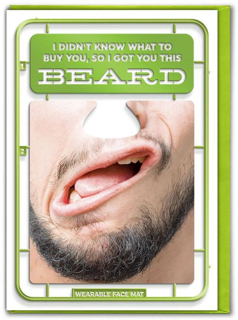 Beard Birthday Card & Face Mat