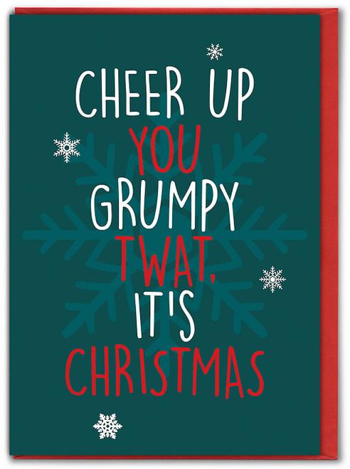 GRUMPY TWAT CHRISTMAS CARD