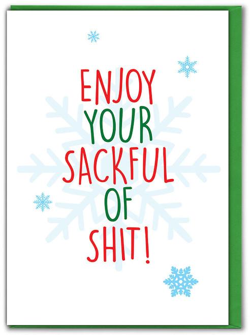 Sackful Of Shit! Christmas Card
