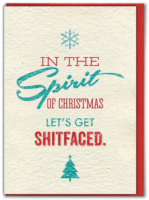 Shitfaced Christmas Card