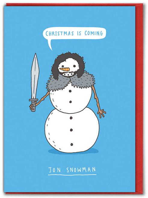 Jon Snowman Christmas Card