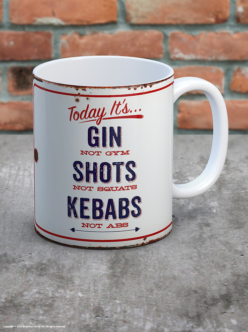 Gin Not Gym Boxed Mug