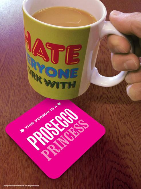 Pink Prosecco Princess Coaster