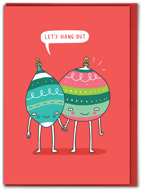 Let's Hang Out Christmas Card