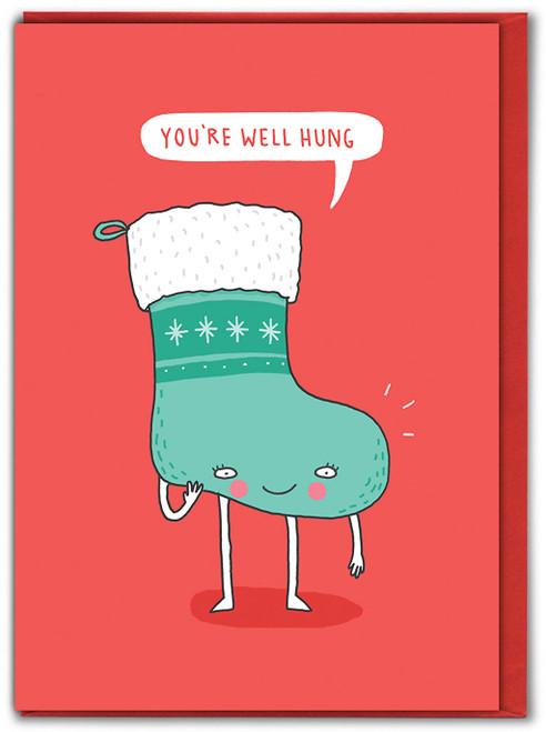 You're Well Hung Christmas Card