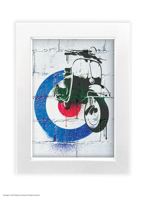 Scooter - Quality A3 / A5 Framed Print (Choice of Black or White Frame)