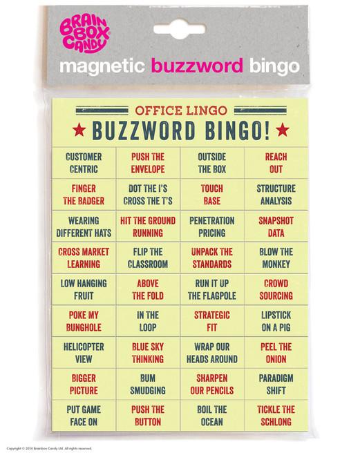 Office Lingo Buzzword Bingo Magnetic Words