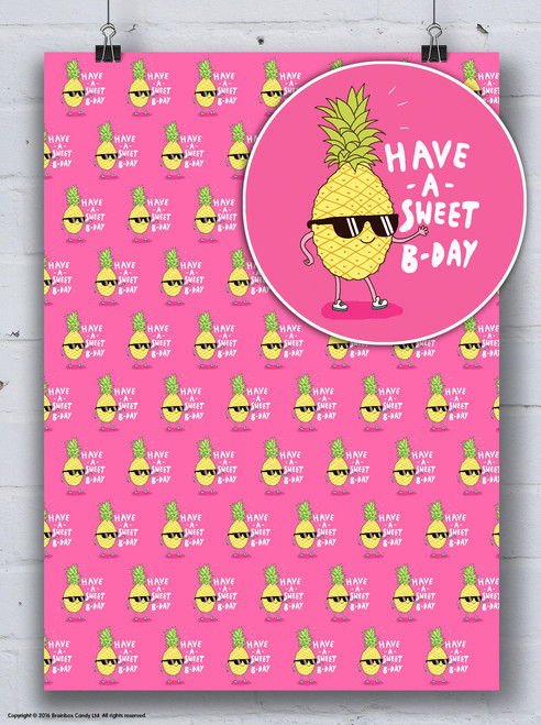Have A Sweet B-Day Gift Wrap