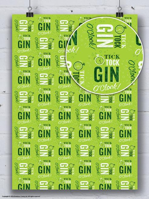 Gin O'Clock Gift Wrap