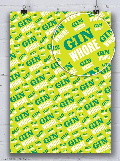Gin Whore Gift Wrap
