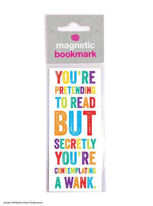 Contemplating A Wank Magnetic Bookmark