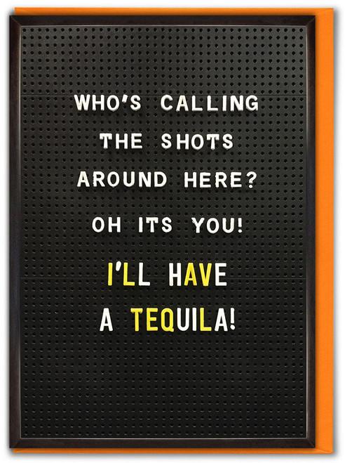 Calling The Shots Birthday Card