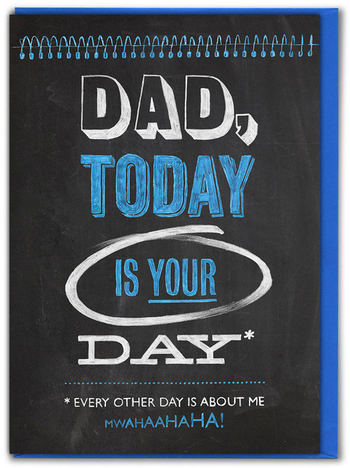 Dad Today Is Your Day Birthday / Father's Day Card