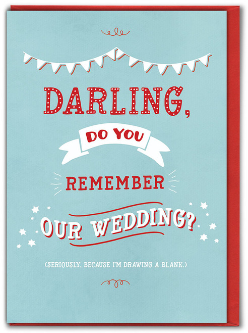 Do You Remember Our Wedding? Anniversary Card