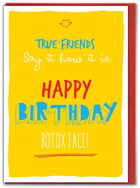 Botox Face Birthday Card