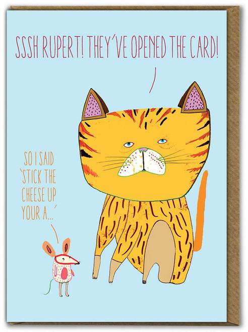 Sssh Rupert Birthday Card