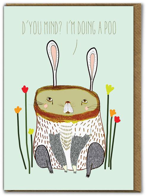 Doing A Poo Birthday Card