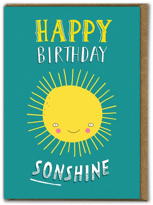 Happy Birthday Sonshine Son Birthday Card