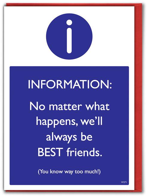 Best Friends Know Too Much Birthday Card