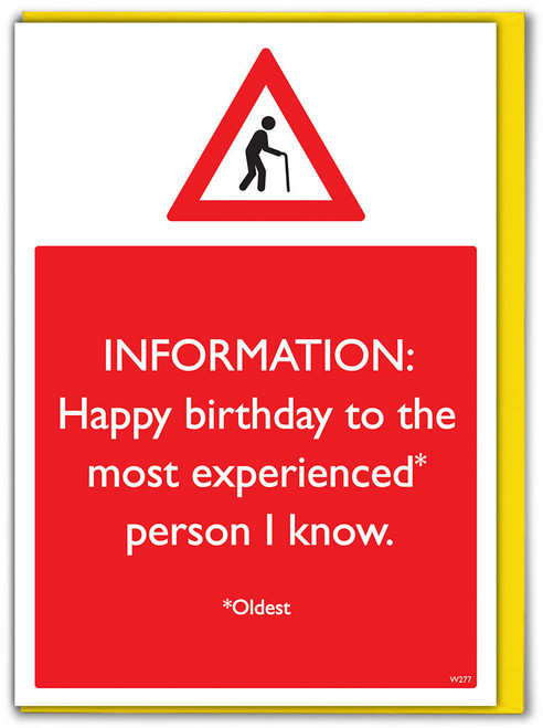 Oldest Person I Know Birthday Card