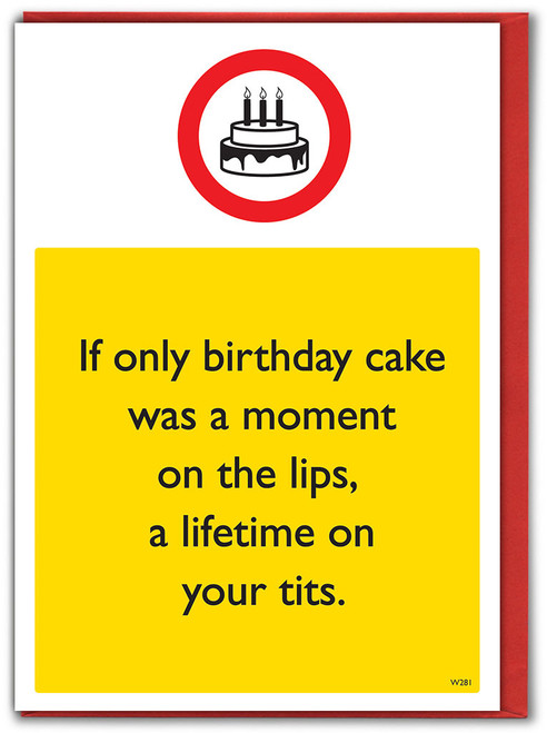 Lifetime On Your Tits Birthday Card