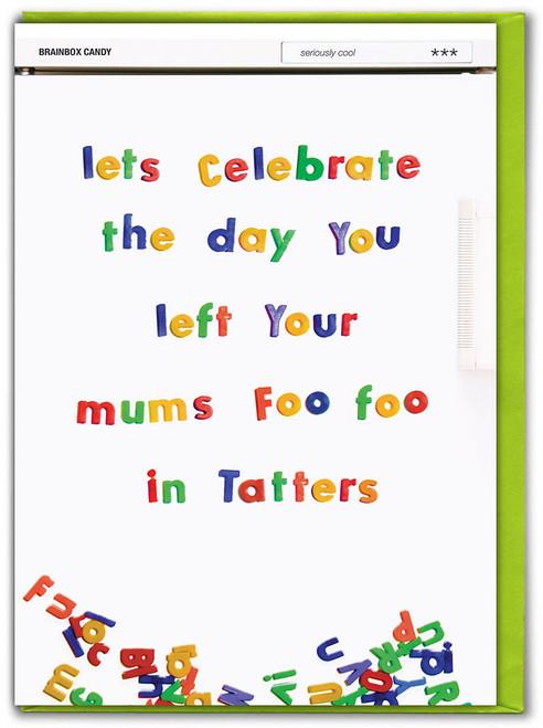 Foo Foo Tatters Birthday Card