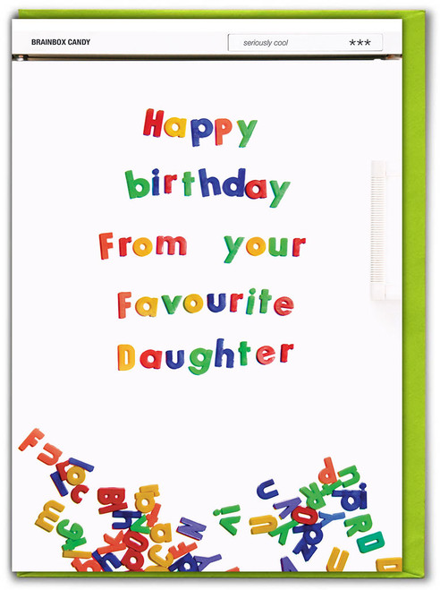 From Your Favourite Daughter Birthday Card
