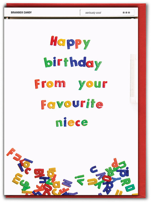 From Your Favourite Niece Birthday Card