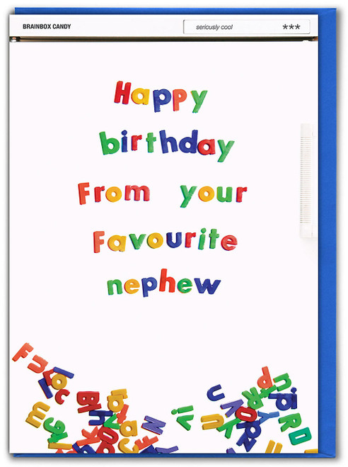 From Your Favourite Nephew Birthday Card