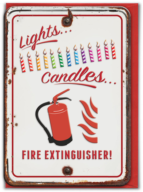 Light Candle Embossed Birthday Card