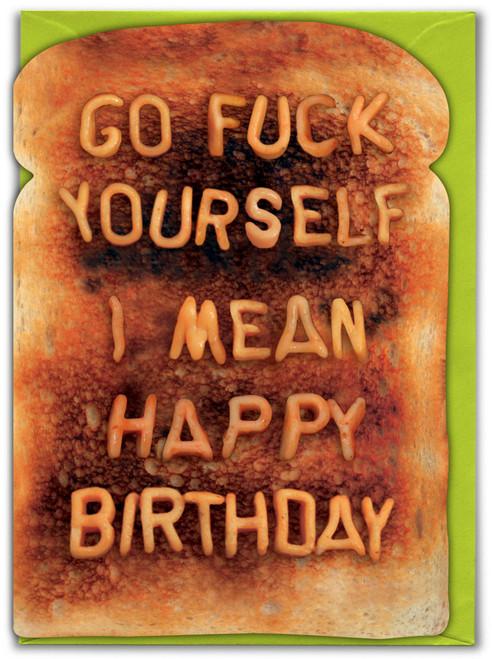 Go Fuck Yourself Birthday Card