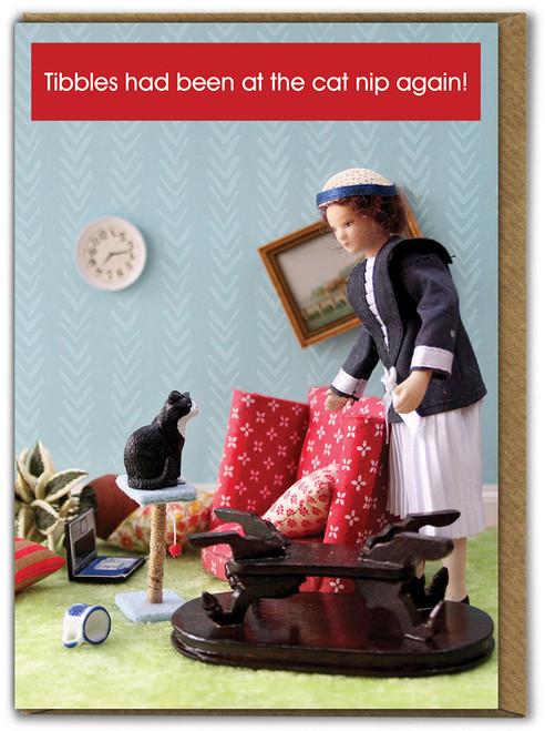 Cat Nip Birthday Card