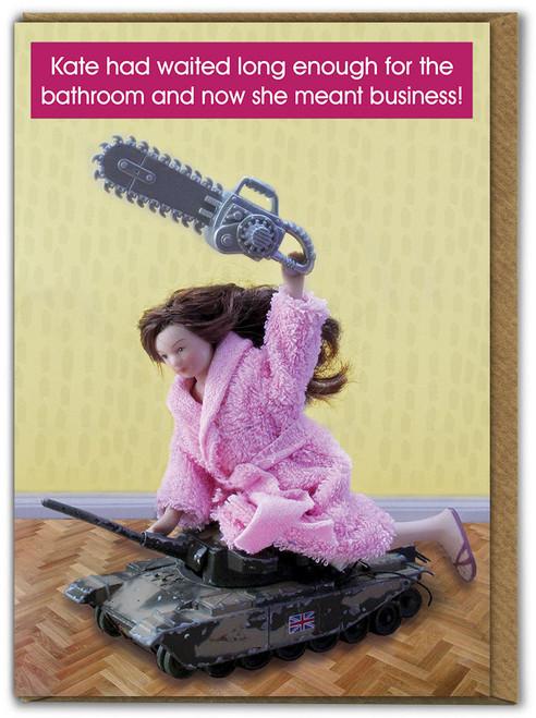 Bathroom Business Birthday Card