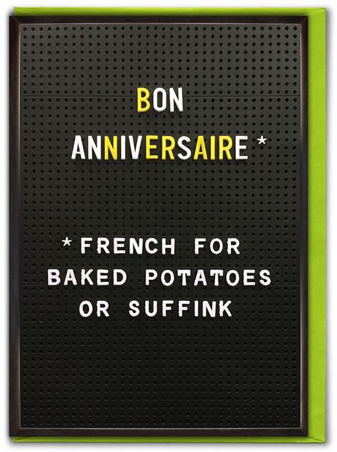 Bon Anniversaire Birthday Card