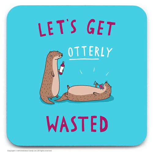 Otterly Wasted Coaster