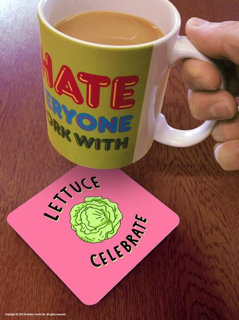 Lettuce Celebrate Coaster
