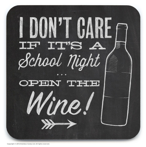 School Night Wine Coaster