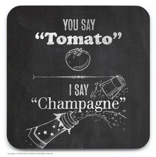 Tomato Champagne Coaster