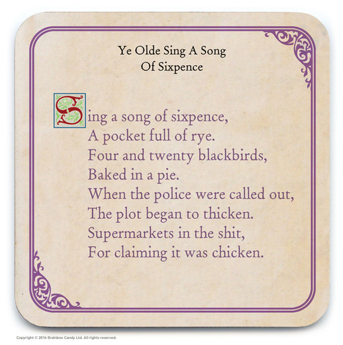 Sing A Song Of Sixpence Coaster