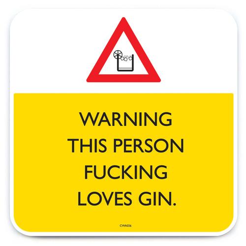 Fucking Loves Gin Coaster
