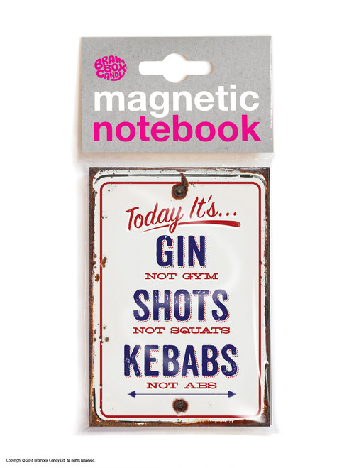 Gin Not Gym Magnetic Notebook