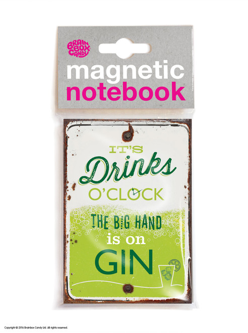 Drinks O'Clock Magnetic Notebook