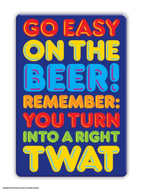 Beer Twat Fridge Magnet