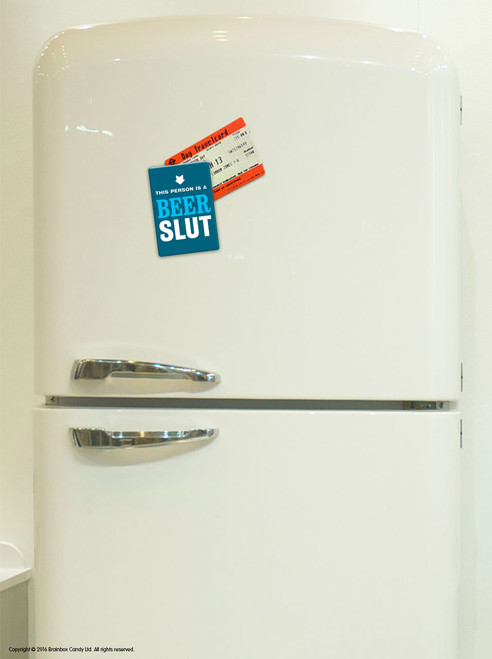 Beer Slut Fridge Magnet