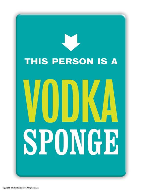 Vodka Sponge Fridge Magnet