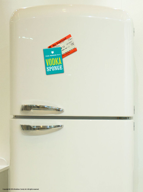 Vodka Sponge Fridge Magnet