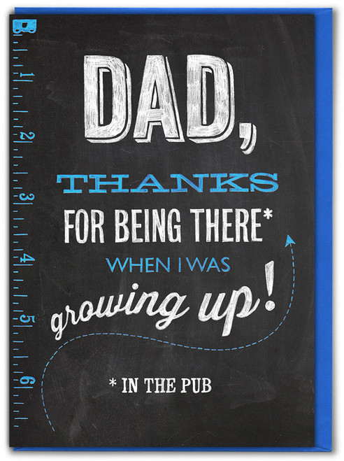 Thanks Being There Father's Day Card