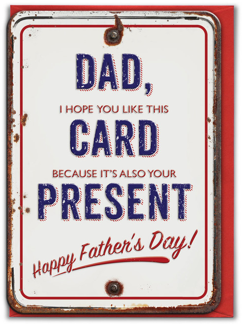 Card & Present Embossed Father's Day Card