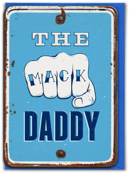 The Mack Daddy Embossed Birthday / Father's Day Card