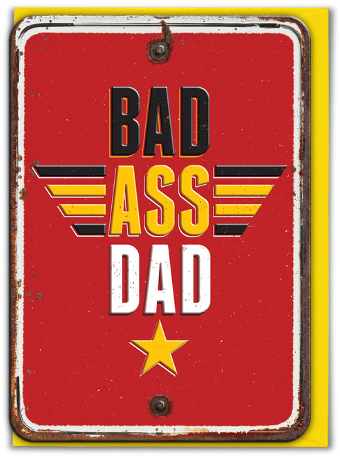 Bad Embossed Birthday/Father's Day Card